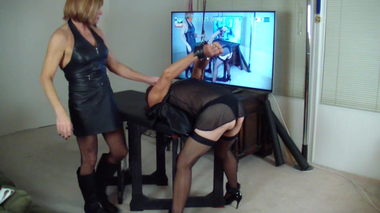 Bent over in Strappado and Pegged
