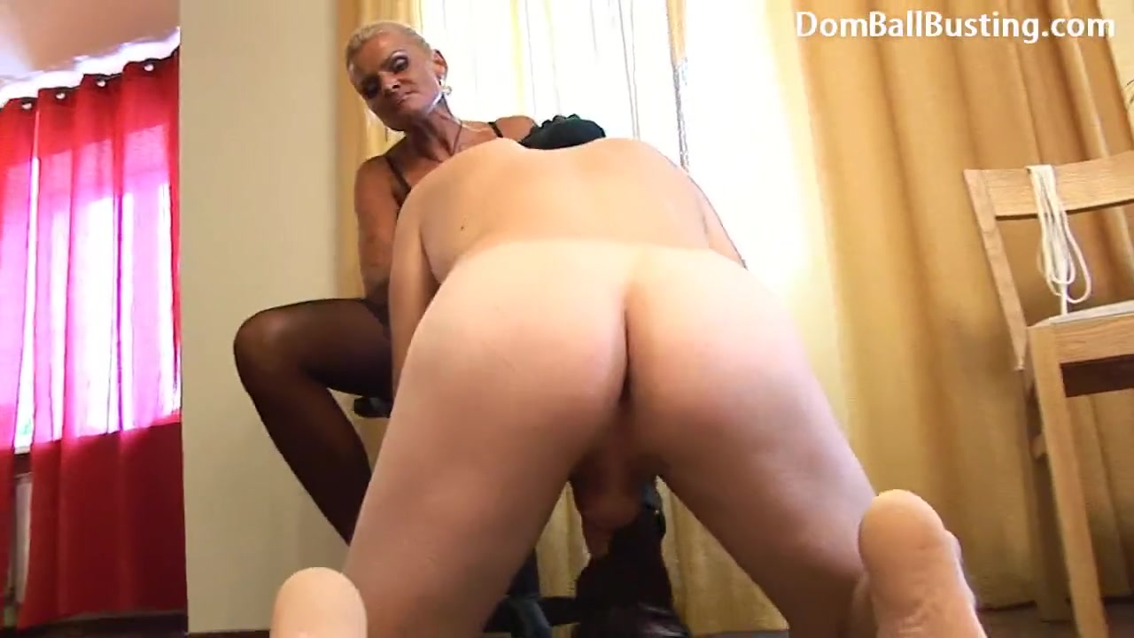 Meryl Busting Balls and Humiliating Her Slave