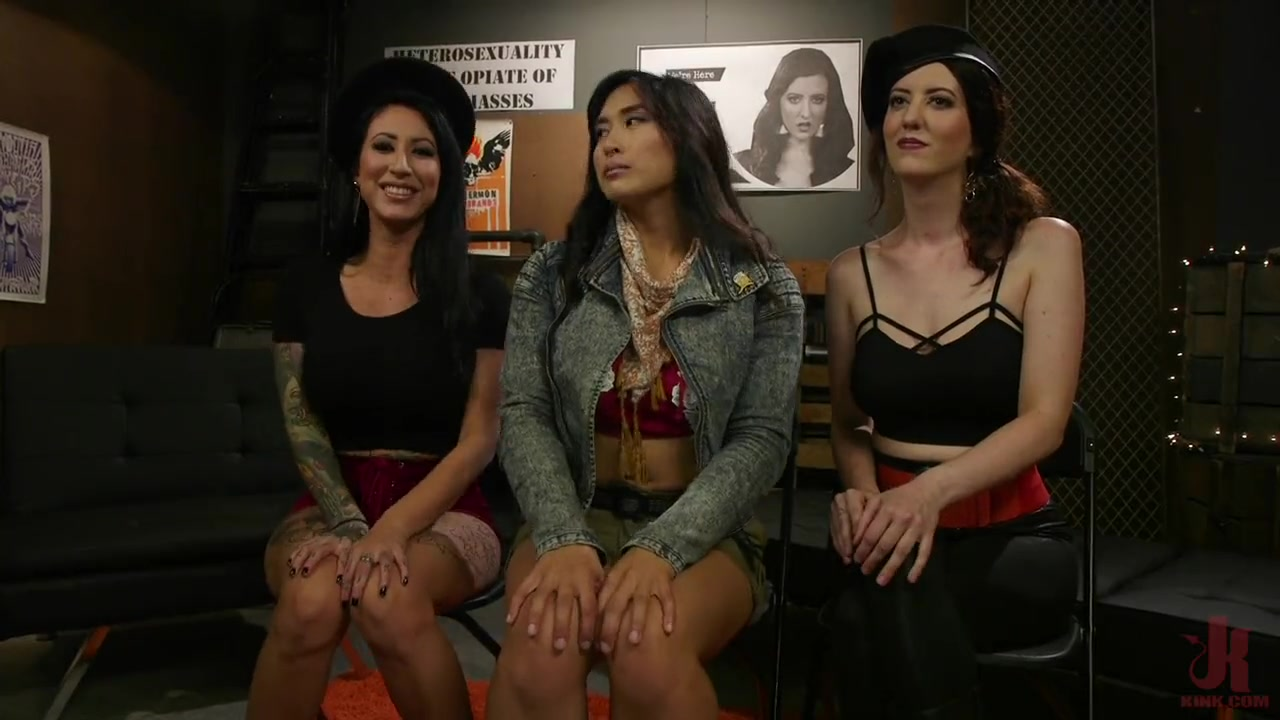 Mia Li Dominated By Two Dommes