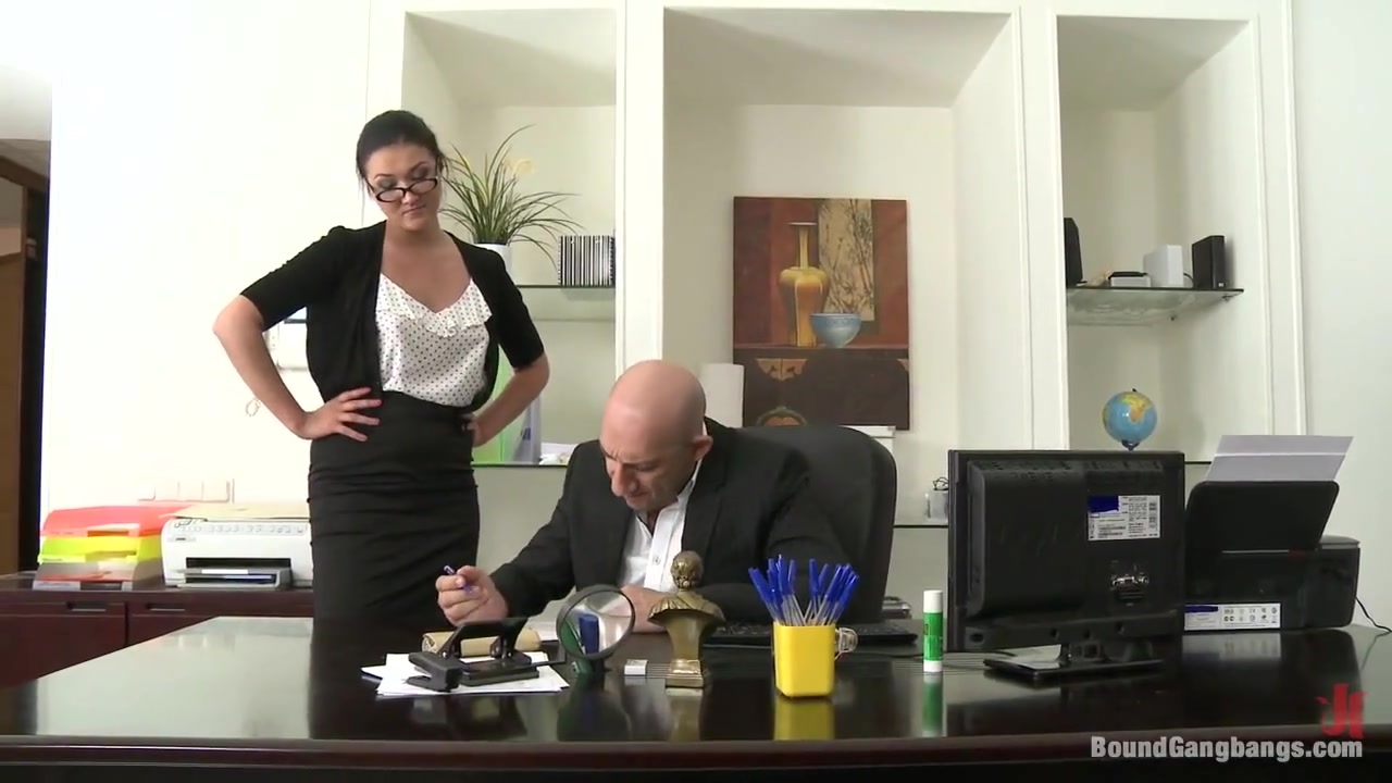 Secretary gangbanged by her Superiors