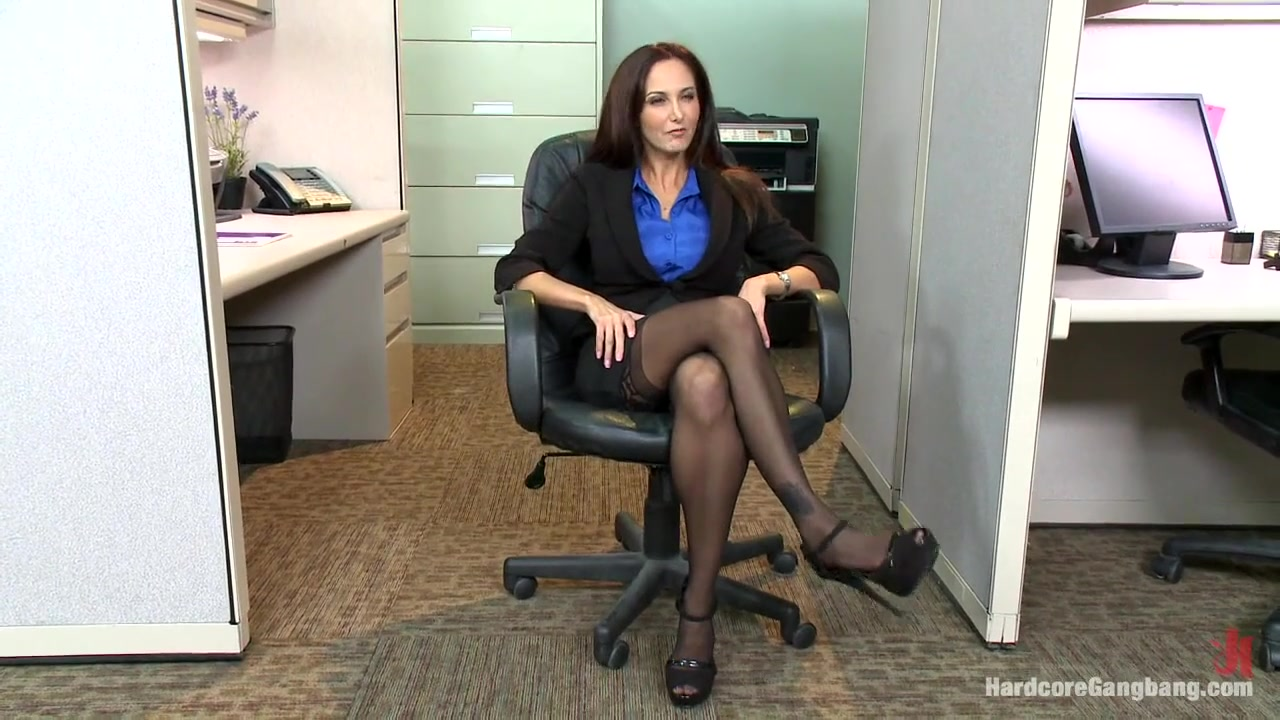 Ava in an office party - Gangbang