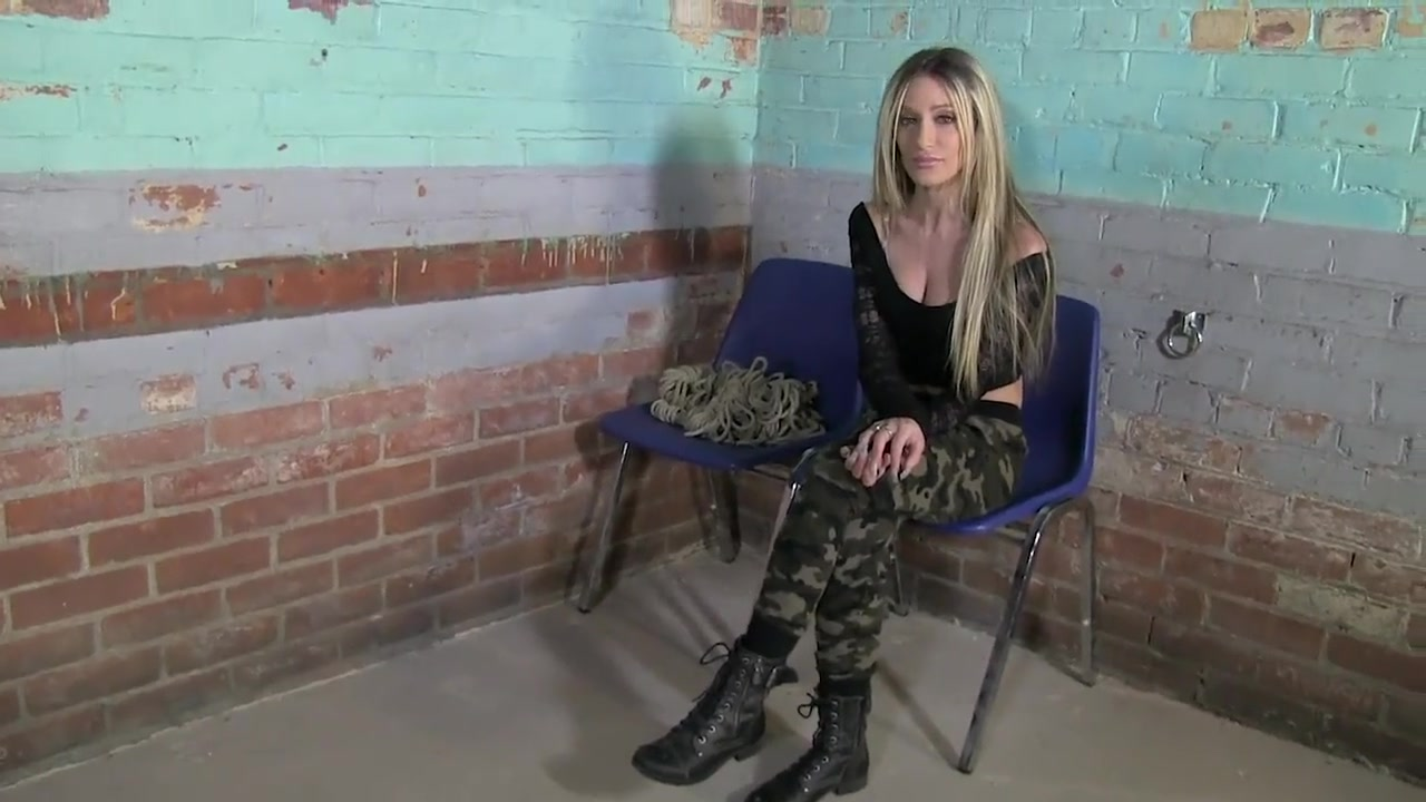 Military broad Hogtied