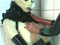 Kinky Rubber Lezdom Strap-on