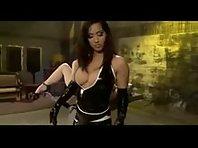 Stretching her holes - Lezdom