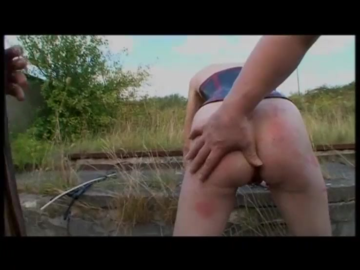 Red Head Slave Punished Outdoors - German