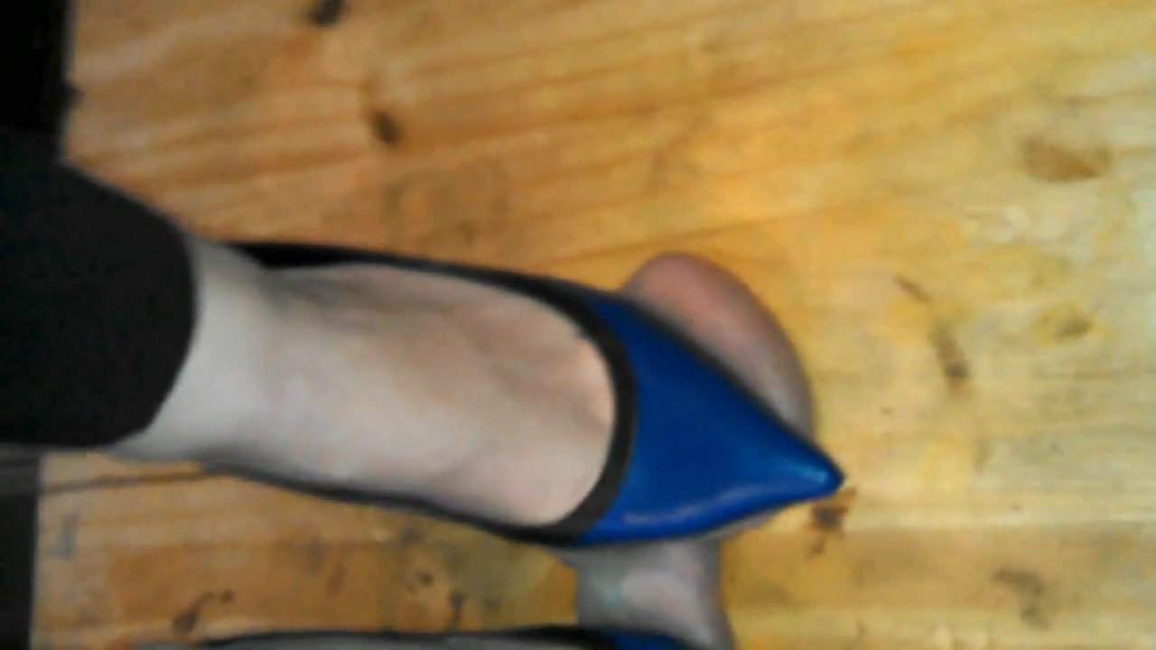 Brutal Ball Stomping with High Heels