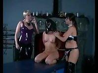 Lesbian Strap-on Mistresses Fucking Their Slave Girl