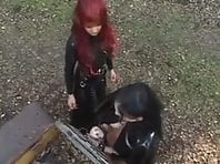Mistress Adara and Kirsey - Outdoor Lesbian BDSM