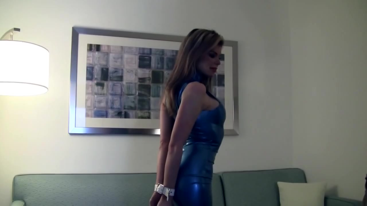 Candle in blue latex