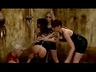 Three Lesbian Dommes dominate one