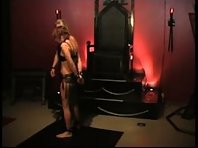 German Mistress Caning her Slave Girl