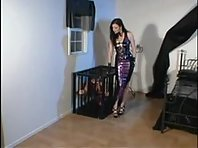 Caged Latex Lesbian