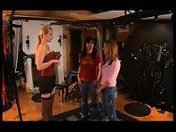 Mistress Spanking two sub girls