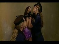 Two Elegant Mistresses punishing their Slavegirl