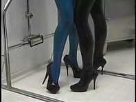 Mistress Sandra and her sub girl in latex