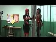 Latex lesbian Punishment in Jail