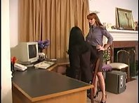 Lesbian Bondage and BDSM at the Office