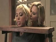 Lesbian Slave in Rack Punished