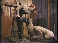 Lesbian BDSM - Tit and pussy Punishment