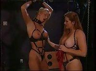 Lesbian BDSM - Magic wand and punishment