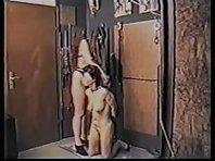 Lesbian BDSM - Flogging, canning, tit torture, needles