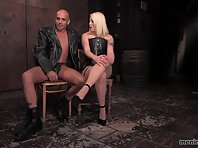Lorelei Lee dominates a bald man