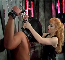 Mistress Lolita playing with his dick