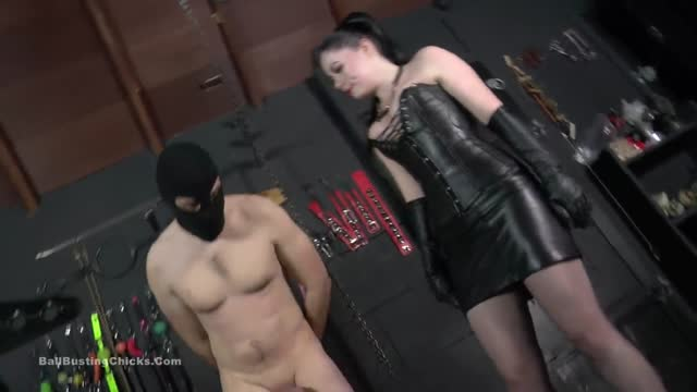 Ballbusting - Rude treatment