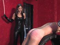 Mistress punishes ass