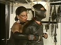 Leather Mistress and slave