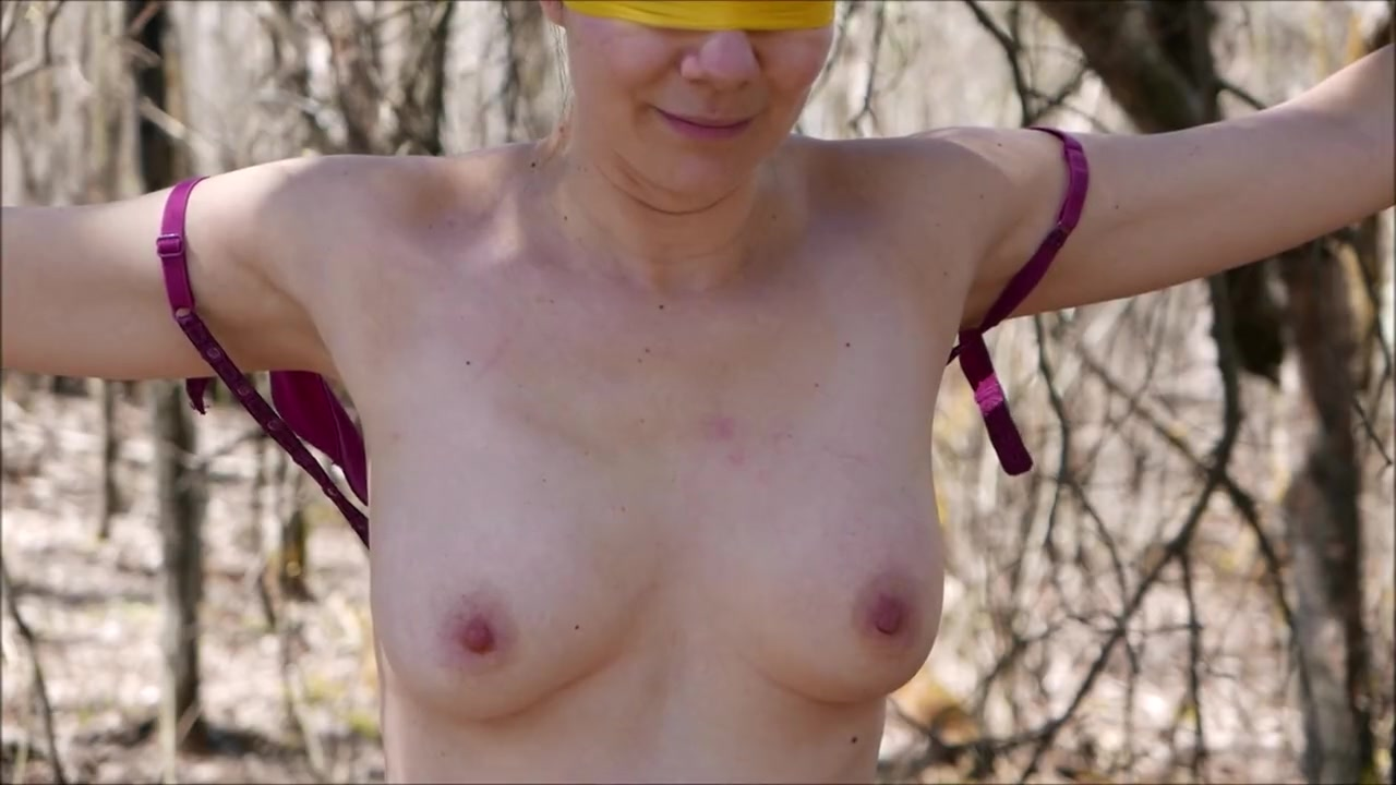 Forced orgasm in the woods
