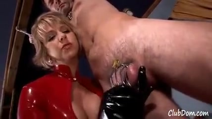 Chastity Slave Pegged by Brianna