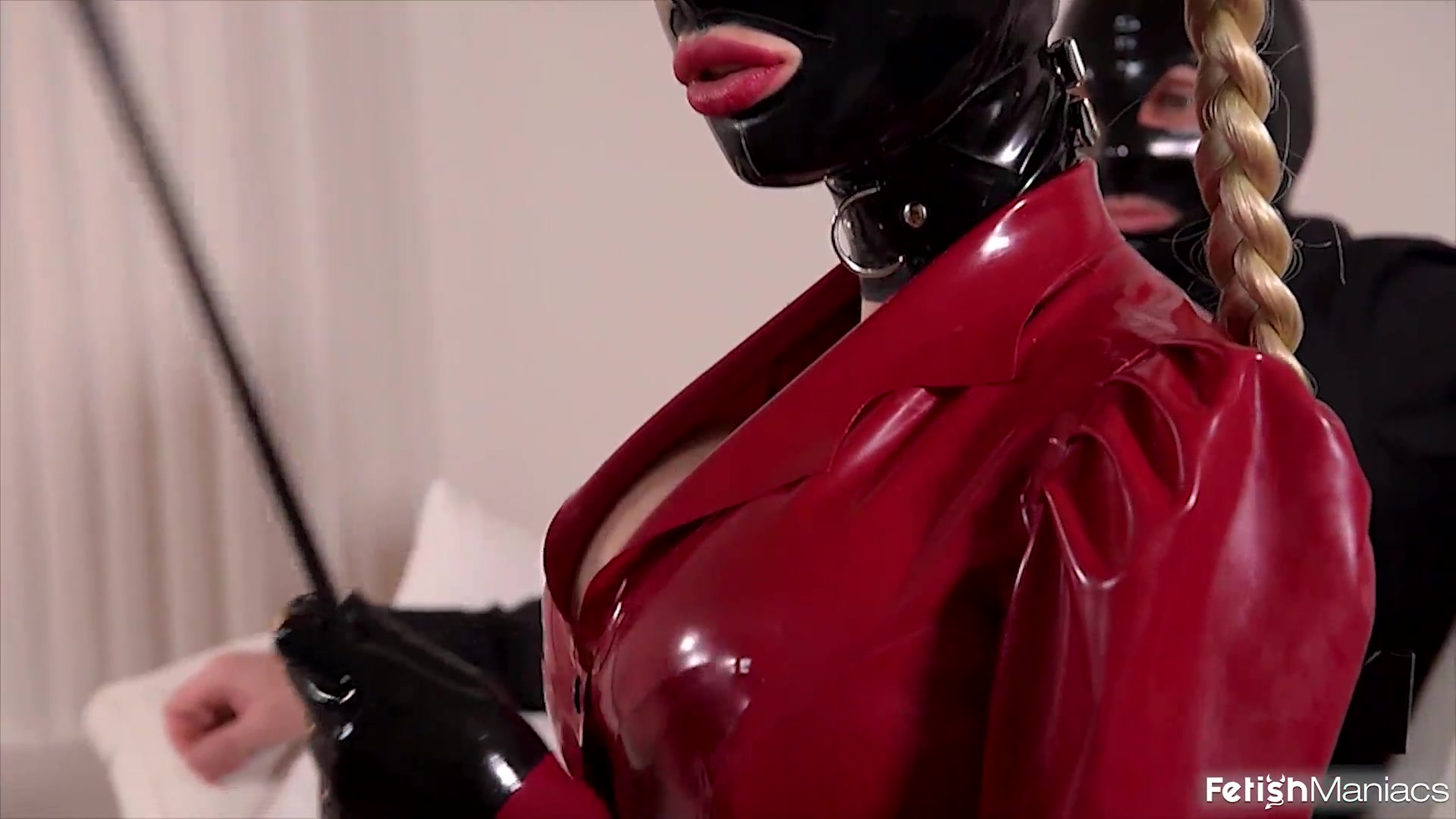 Rubber Slut Used by Two Guys