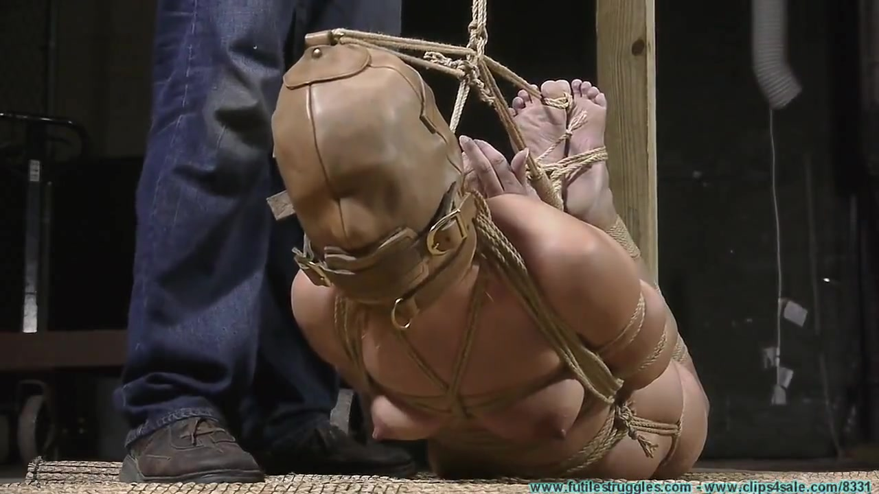 Rachel Hooded and Tightly Hogtied
