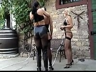 2 Cruel Dommes - One Male slave