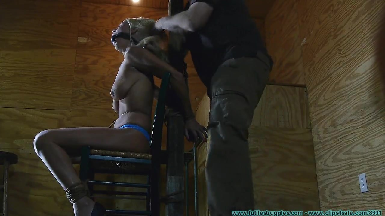 Tit Torture on Chair