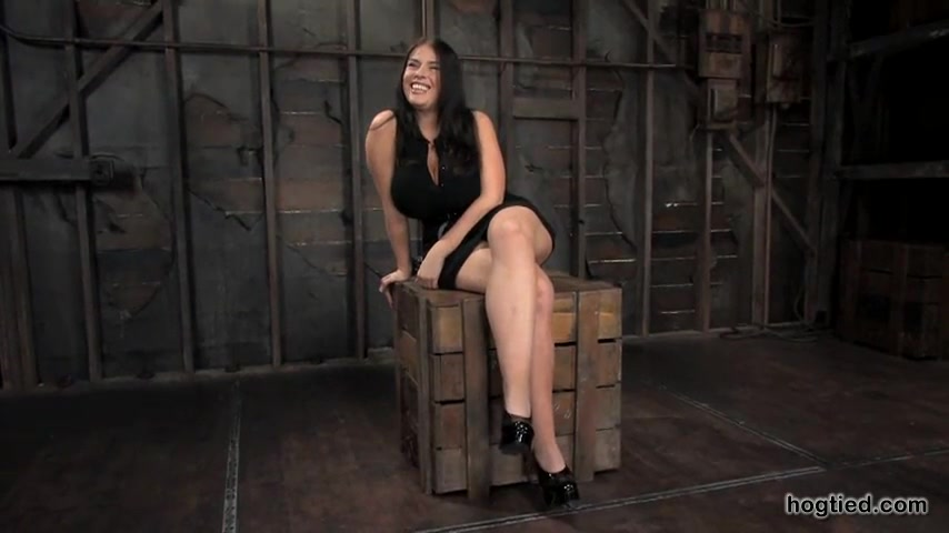 Busty slut in Early Hogtied Shoot