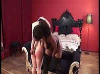 Black Mistress and white male slave