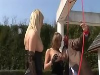 Mistress and Slaves - Outdoor BDSM