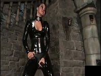 Latex Domina and Strap-on