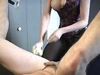 Mistress Tormenting her Gimp