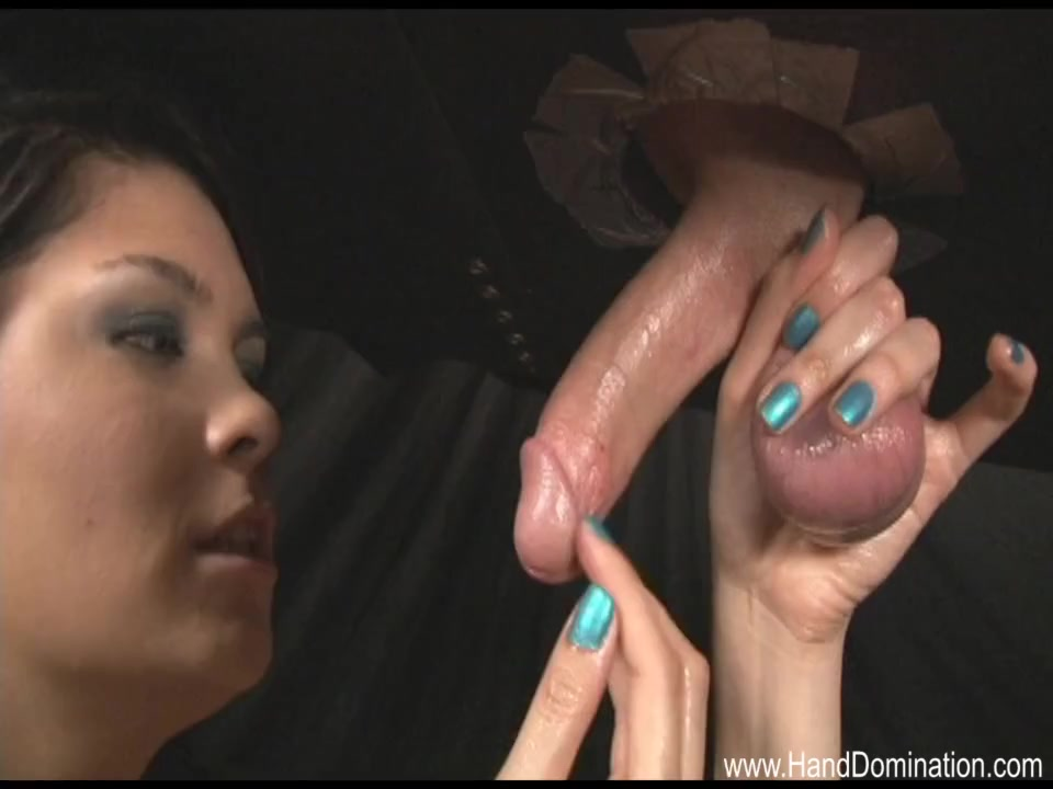 Femdom Handjob Under The Table