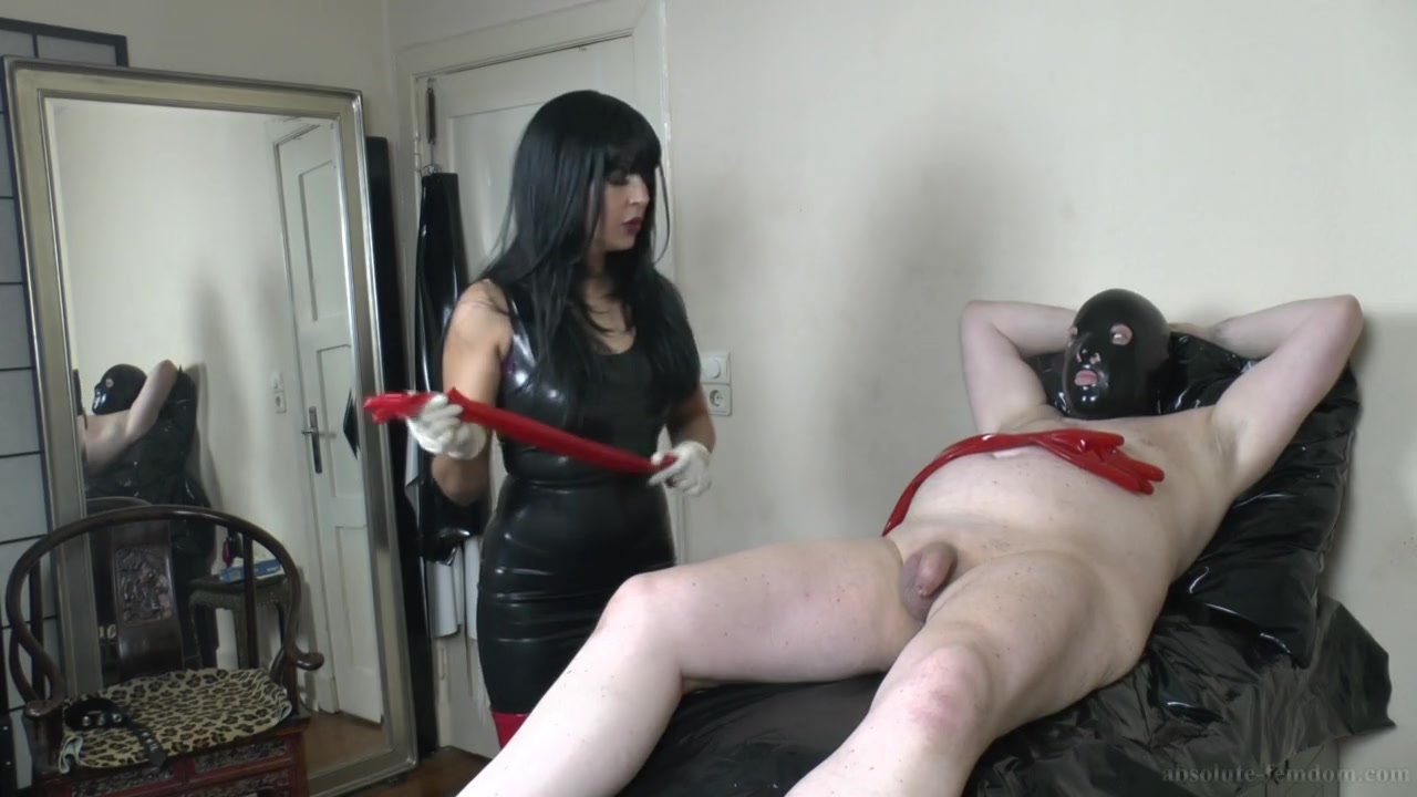 Red Latex Gloves Handjob