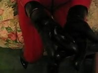 Rubber cock Milking