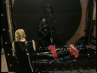 Heavy Femdom Rubber Bed