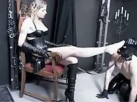 Latex Slave worshipping her Mistress