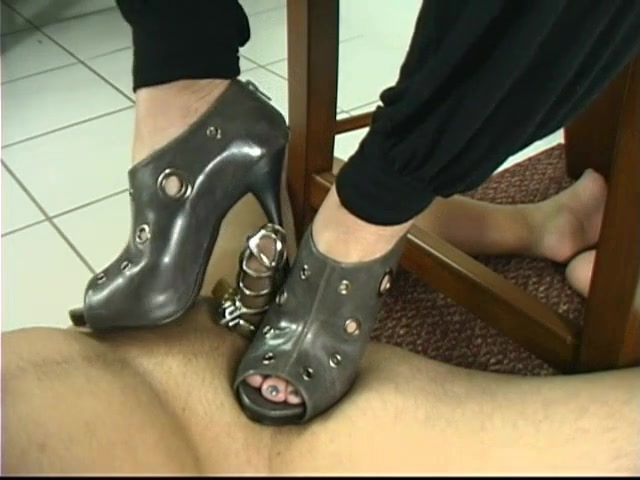 Goddess Venus - Chastity Stiletto Heel Torture in Chastity