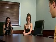 Latex Dommes Milking Office Slave