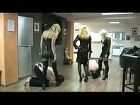3 Dommes beating their slaves