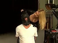 Cruel Slave Training by Latex Mistress